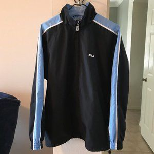 FILA Nylon Cotton Blend Full Zip Track Jacket